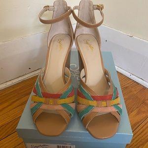 Seychelle rainbow heeled sandals size 9.5 NIB